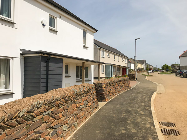 new build housing development Cornwall